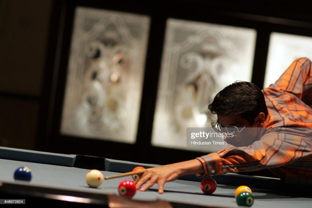 Billiard player Kamal Chawla at Islam Gymkhana.