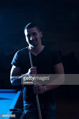 Billiard Player : Stock Photo