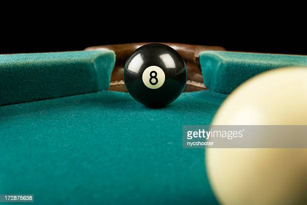 Billiards eight ball corner pocket
