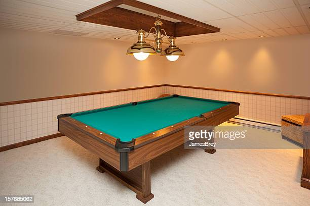 Billiards Room With Custom Lighting
