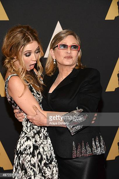 Billie Catherine Lourd and Carrie Fisher attend the Academy of Motion Picture Arts and Sciences' 7th Annual Governors Awards at The Ray Dolby...
