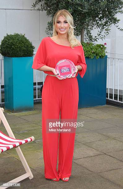 Billie Faiers attends a photocall as she is named icelollycom Celebrity Mum of the Year on March 10 2015 in London England