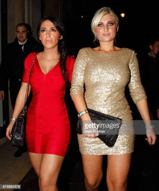 Billie Faiers departs the Mahiki Club on November 11 2011 in London England