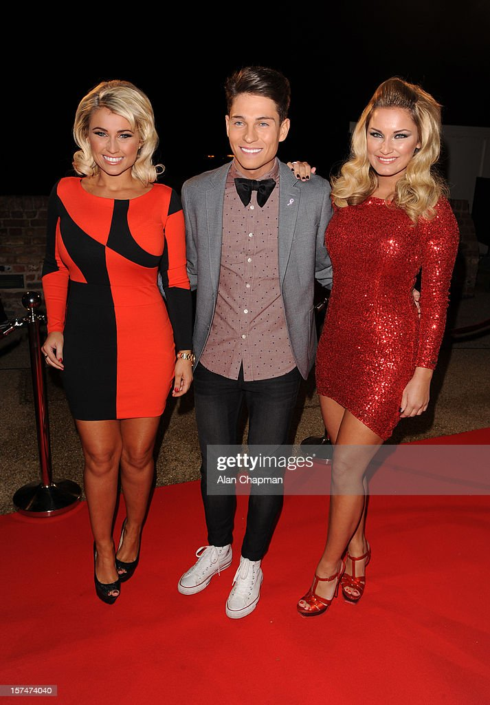 Billie Faiers, Joey Essex and <a gi-track='captionPersonalityLinkClicked' href=/galleries/search?phrase=Sam+Faiers&family=editorial&specificpeople=7324872 ng-click='$event.stopPropagation()'>Sam Faiers</a> sighting at TOWIE live on December 3, 2012 in London, England.