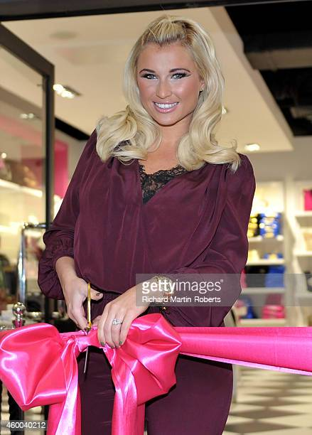 Billie Faiers opens the new Juicy Couture store at Cheshire Oaks on December 6 2014 in Ellesmere Port England