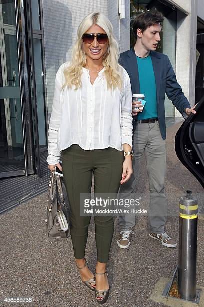 Billie Faiers seen leaving the ITV Studios on October 3 2014 in London England