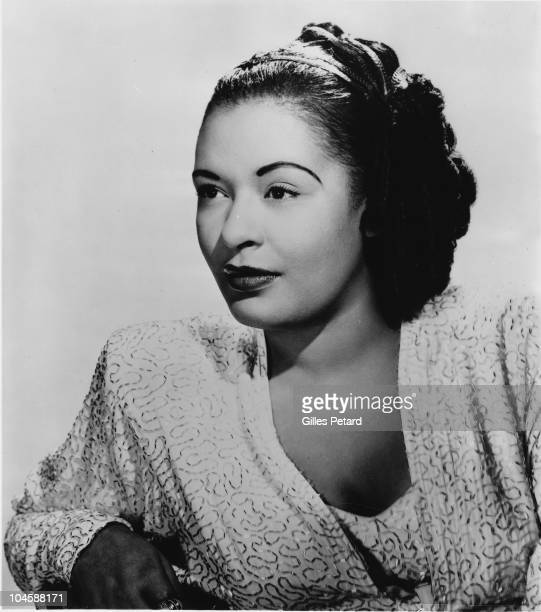 Billie Holiday poses for a studio portrait in 1950 in the United States