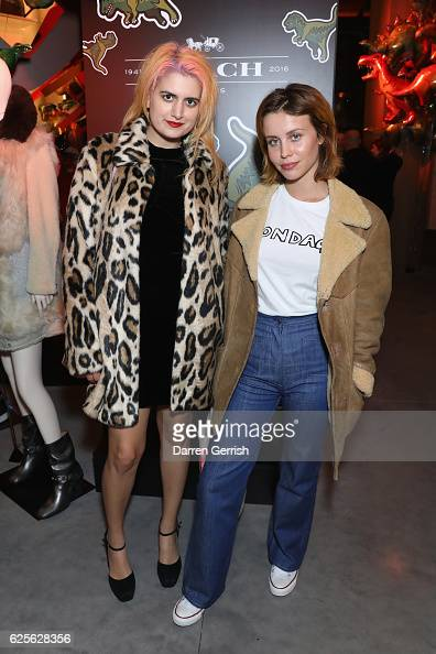 Billie JD Porter and Camille Benett attend Coach House Regent Street Launch Party on November 24 2016 in London England