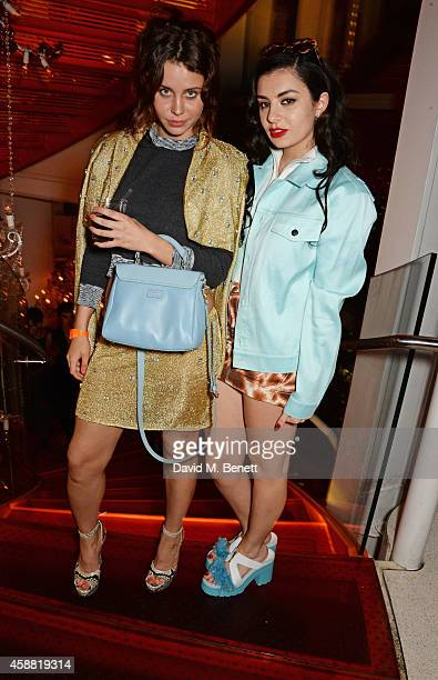 Billie JD Porter and Charli XCX attend Sushisamba's second anniversary celebration with a performance by Lily Allen at VIP at Sushi Samba on November...
