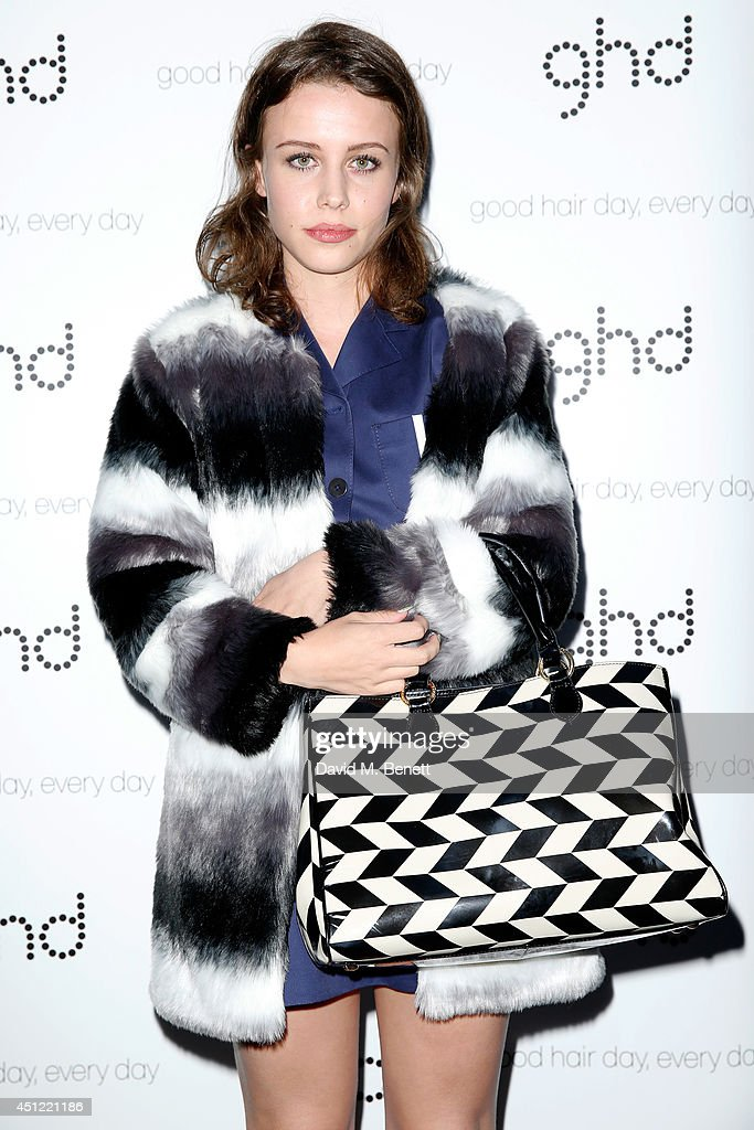 Billie JD Porter attends ghd's exhibition of iconic beauty must-haves to celebrate the launch of ghd aura, a ground-breaking drying and styling tool on June 25, 2014 in London, England.