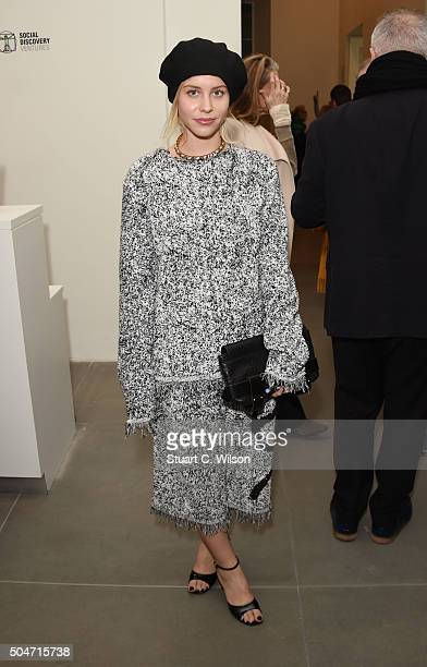 Billie JD Porter attends Saatchi's first ever all female show to mark the Gallery's 30th Anniversary at The Saatchi Gallery on January 12 2016 in...