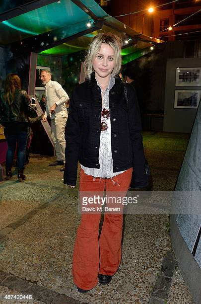 Billie JD Porter attends the FW15 Lee Denim Launch Party at The Magic Roundabout on September 9 2015 in London England