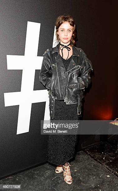 Billie JD Porter attends the Harvey Nichols presentation of #BEENTRILL# designer collaboration during London Collections Men at The Vaults on June 16...