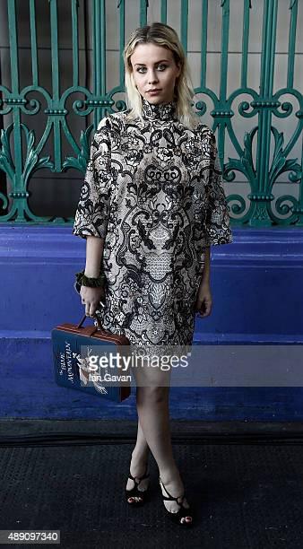 Billie JD Porter attends the Julien Macdonald show during London Fashion Week SS16 on September 19 2015 in London England