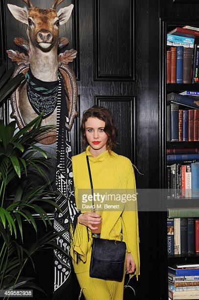 Billie JD Porter attends the launch of the Rockins For Eyeko collection at The Scotch of St James on November 25 2014 in London England