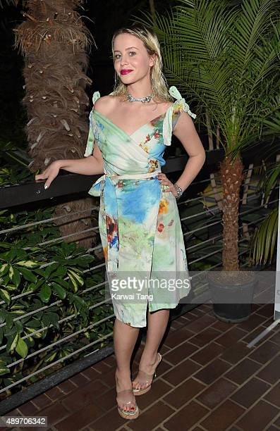 Billie JD Porter attends the launch party for Cool Earth at The Conservatory Barbican Centre on September 23 2015 in London England