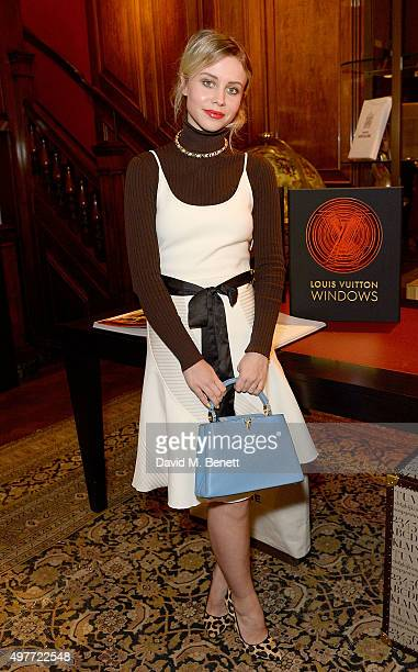 Billie JD Porter attends the 'Louis Vuitton Windows' book launch at Maison Assouline on November 18 2015 in London England