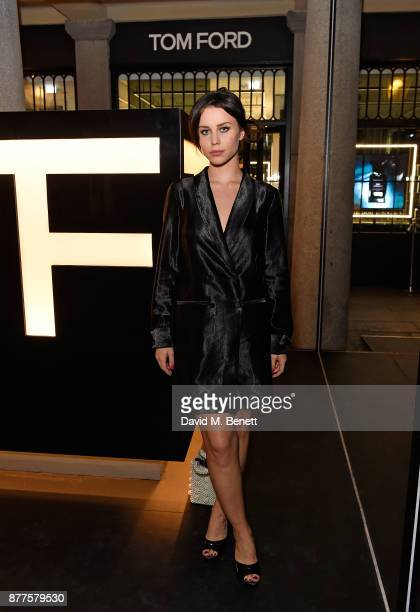 Billie JD Porter attends the opening of the first TOM FORD global beauty store at Covent Garden on November 22 2017 in London England