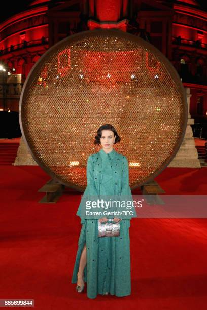 Billie JD Porter attends the Swarovski Prolouge at The Fashion Awards 2017 in partnership with Swarovski at Royal Albert Hall on December 4 2017 in...