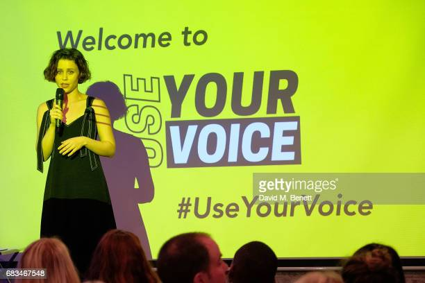 Billie JD Porter attends the 'Use Your Voice' event addressing the state of political engagement across the UK at Newspeak House on May 15 2017 in...