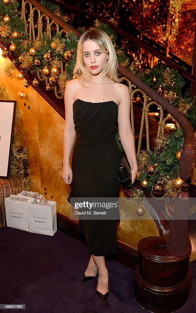 Billie JD Porter attends the WhoWhatWear UK Launch at Loulou's on November 24, 2015 in London, England.