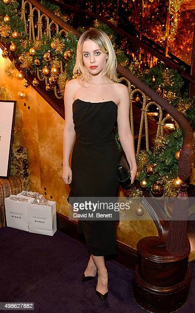 Billie JD Porter attends the WhoWhatWear UK Launch at Loulou's on November 24 2015 in London England