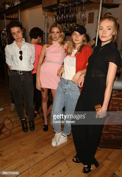 Billie JD Porter Greta Bellamacina Imogen Waterhouse and Clara Paget attend a play reading of 'Building The Wall' by Robert Schenkkan presented by...