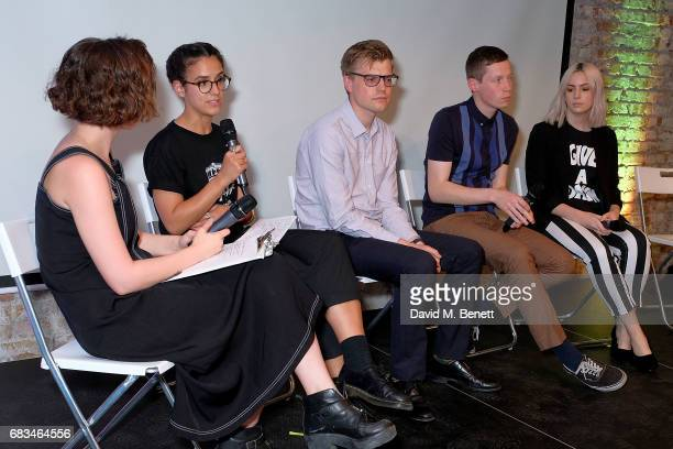 Billie JD Porter Leah Cowan Jim Waterson and Gemma Styles attend the 'Use Your Voice' event addressing the state of political engagement across the...