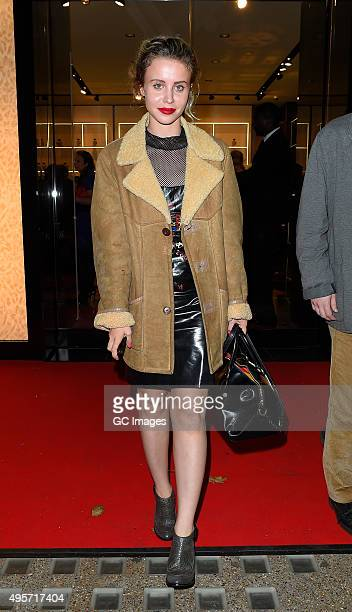 Billie JD Porter leaves Roberto Cavalli Store in Knightsbridge after their Disaronno launch party on November 4 2015 in London England