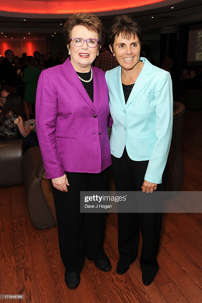 Billie Jean King and Ilana Kloss attend the UK premiere of 'Battle Of The Sexes' at The Vue Leicester Square on June 26, 2013 in London, England.