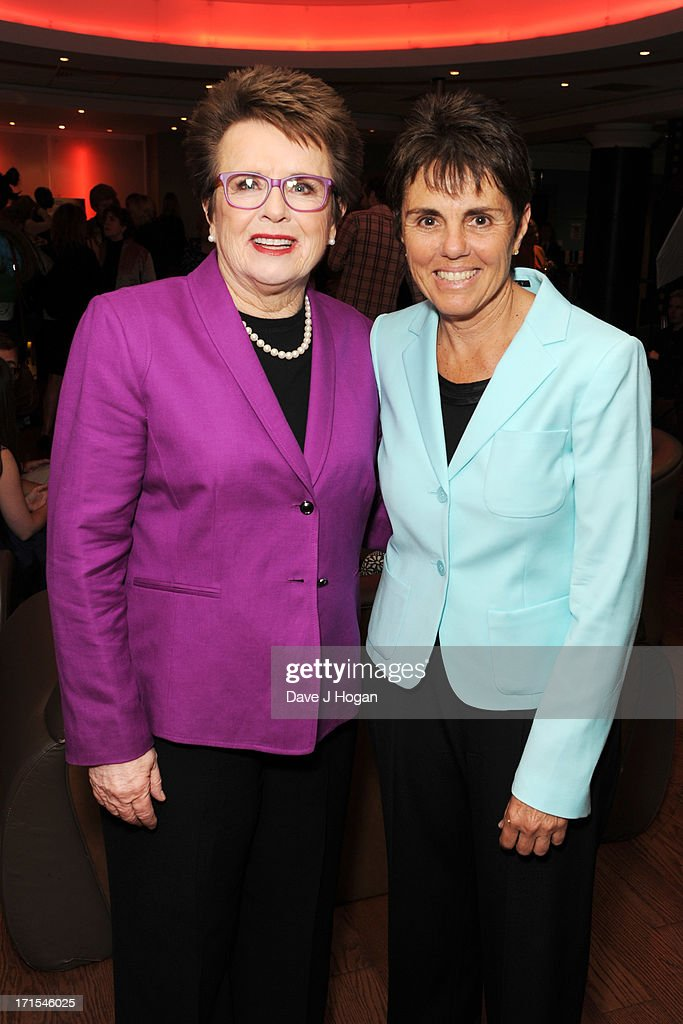 <a gi-track='captionPersonalityLinkClicked' href=/galleries/search?phrase=Billie+Jean+King&family=editorial&specificpeople=93147 ng-click='$event.stopPropagation()'>Billie Jean King</a> and Ilana Kloss attend the UK premiere of 'Battle Of The Sexes' at The Vue Leicester Square on June 26, 2013 in London, England.