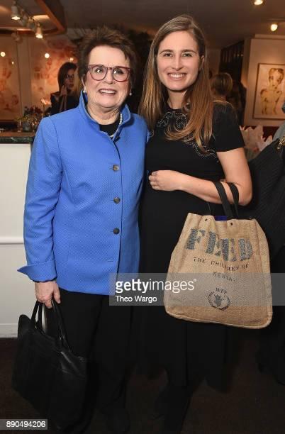Billie Jean King and Lauren Bush attend the Hearst 100 at Michael's Restaurant on December 11 2017 in New York City