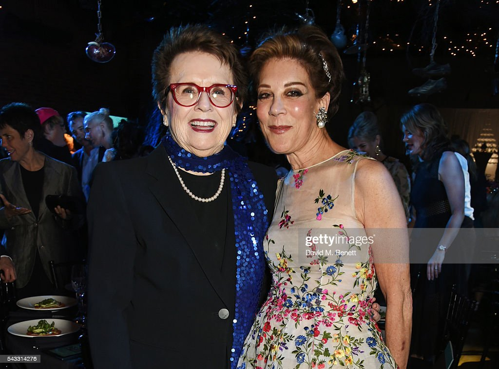 <a gi-track='captionPersonalityLinkClicked' href=/galleries/search?phrase=Billie+Jean+King&family=editorial&specificpeople=93147 ng-click='$event.stopPropagation()'>Billie Jean King</a> (L) and Peggy Siegal attend the Summer Gala for The Old Vic at The Brewery on June 27, 2016 in London, England.