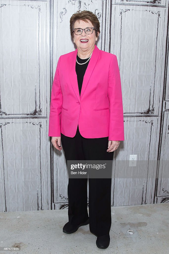 <a gi-track='captionPersonalityLinkClicked' href=/galleries/search?phrase=Billie+Jean+King&family=editorial&specificpeople=93147 ng-click='$event.stopPropagation()'>Billie Jean King</a> attends AOL BUILD Series Presents: AOL MAKER <a gi-track='captionPersonalityLinkClicked' href=/galleries/search?phrase=Billie+Jean+King&family=editorial&specificpeople=93147 ng-click='$event.stopPropagation()'>Billie Jean King</a> at AOL Studios In New York on September 9, 2015 in New York City.