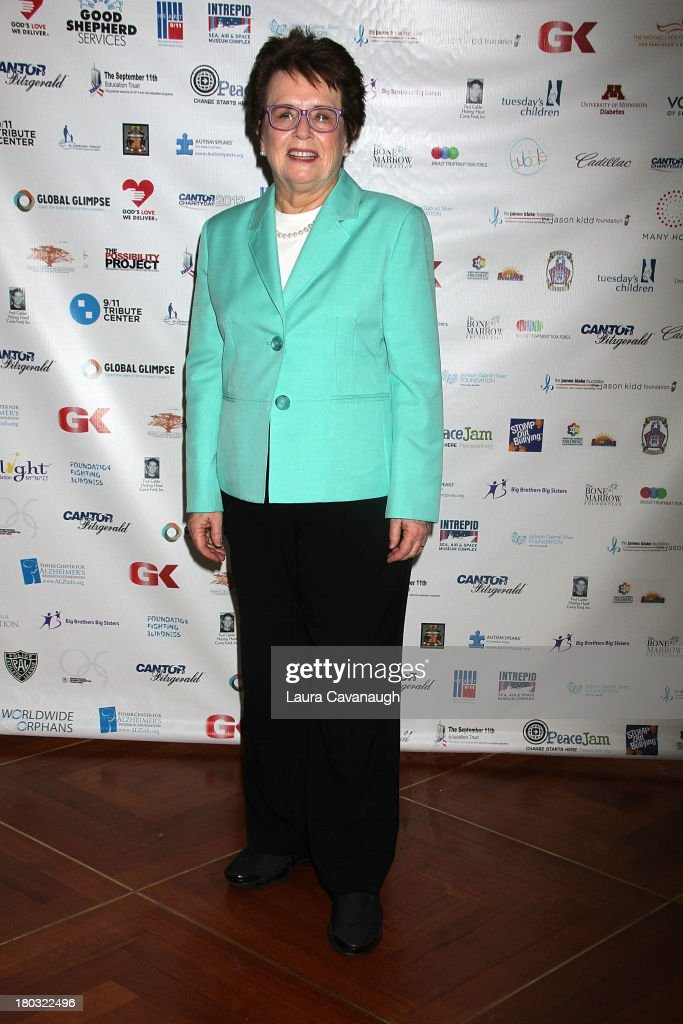 <a gi-track='captionPersonalityLinkClicked' href=/galleries/search?phrase=Billie+Jean+King&family=editorial&specificpeople=93147 ng-click='$event.stopPropagation()'>Billie Jean King</a> attends Cantor Fitzgerald And BGC Partners Annual Charity Day at Cantor Fitzgerald on September 11, 2013 in New York City.