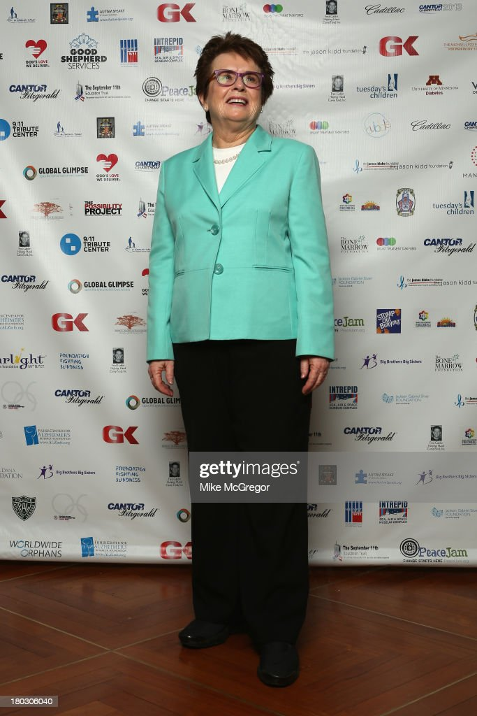 <a gi-track='captionPersonalityLinkClicked' href=/galleries/search?phrase=Billie+Jean+King&family=editorial&specificpeople=93147 ng-click='$event.stopPropagation()'>Billie Jean King</a> attends the Annual Charity Day Hosted By Cantor Fitzgerald And BGC at the Cantor Fitzgerald Office on September 11, 2013 in New York, United States.