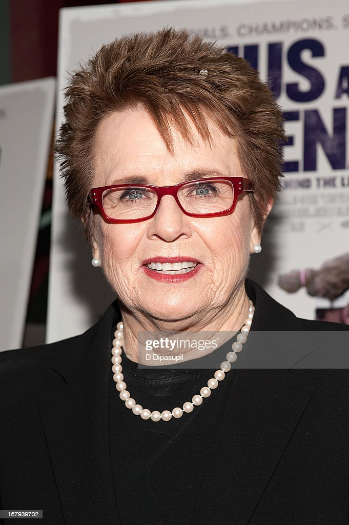<a gi-track='captionPersonalityLinkClicked' href=/galleries/search?phrase=Billie+Jean+King&family=editorial&specificpeople=93147 ng-click='$event.stopPropagation()'>Billie Jean King</a> attends the 'Venus And Serena' screening at IFC Center on May 2, 2013 in New York City.