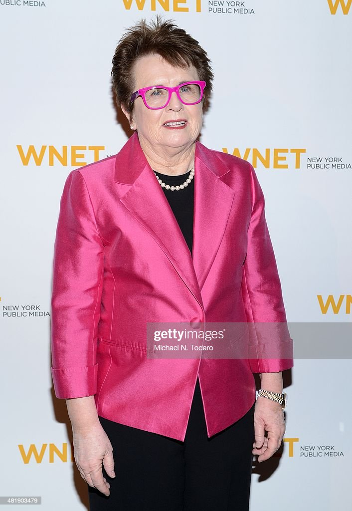 <a gi-track='captionPersonalityLinkClicked' href=/galleries/search?phrase=Billie+Jean+King&family=editorial&specificpeople=93147 ng-click='$event.stopPropagation()'>Billie Jean King</a> attends the WNET 2014 Gala at Cipriani 42nd Street on April 1, 2014 in New York City.
