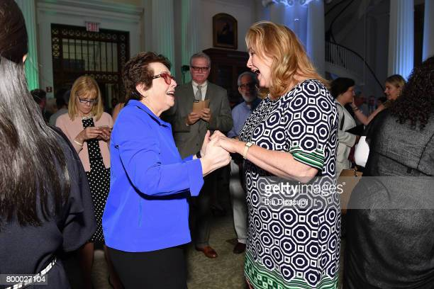 Billie Jean King attends the Women's Sports Foundation 45th Anniversary of Title IX celebration at the NewYork Historical Society on June 22 2017 in...