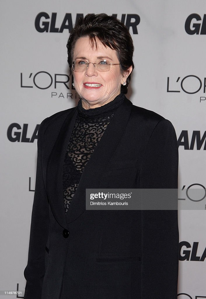 <a gi-track='captionPersonalityLinkClicked' href=/galleries/search?phrase=Billie+Jean+King&family=editorial&specificpeople=93147 ng-click='$event.stopPropagation()'>Billie Jean King</a> during Glamour Magazine Honors The 2006 'Women of The Year' - Arrivals at Carnegie Hall in New York City, New York, United States.