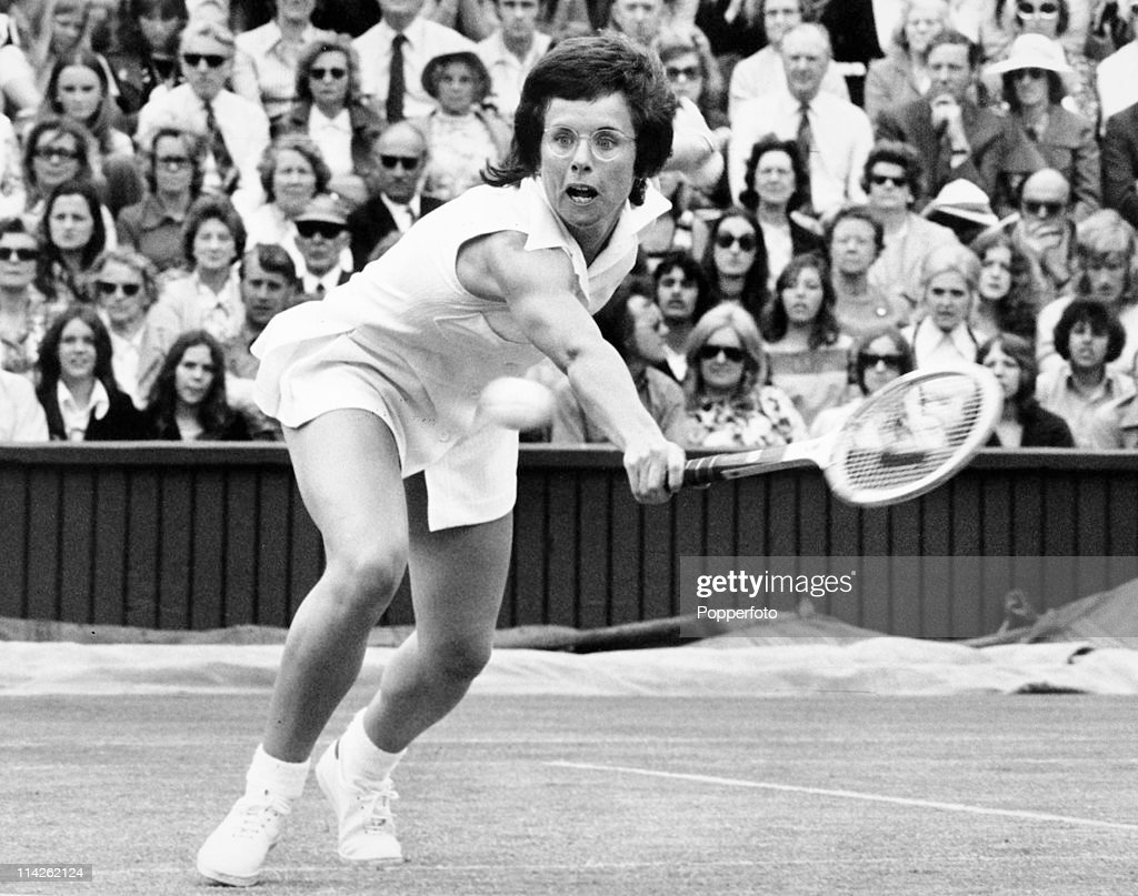 Billie Jean King At Wimbledon