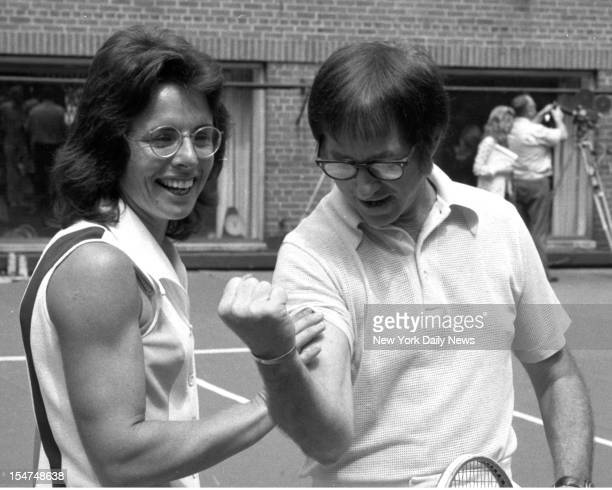Billie Jean King with Bobby Riggs Riggs admits he is a male chauvinist pig as he gets ready for the 'Battle of the Sexes' on Sept 20 at the Houston...