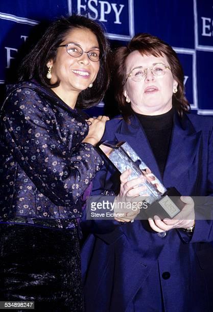 Billie Jean King with Girlfriend attend ESPY Awards New York 1990s