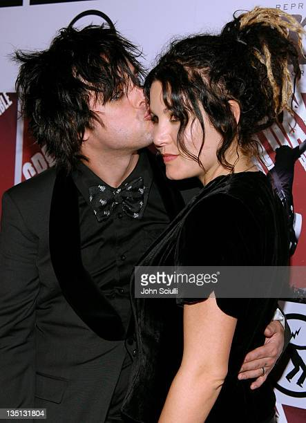 Billie Jo Armstrong of Green Day and Adrienne Armstrong