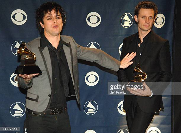 Billie Joe Armstrong and Mike Dirnt of Green Day winner Record Of The Year for 'Boulevard Of Broken Dreams'