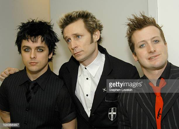 Billie Joe Armstrong Mike Dirnt and Tre Cool of Green Day