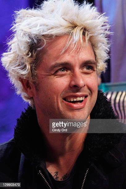 Billie Joe Armstrong of Green Day attends the 'Little Steven's Underground Garage' 500th show celebration at the Hard Rock Cafe New York on October...