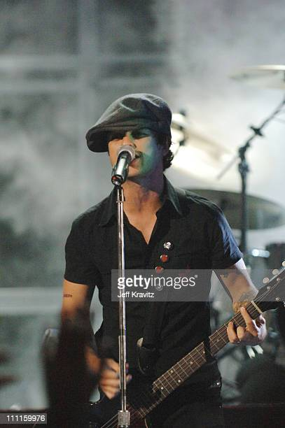 Billie Joe Armstrong of Green Day during 2005 MTV VMA Rehearsals Day 2 at American Airlines Arena in Miami Florida United States