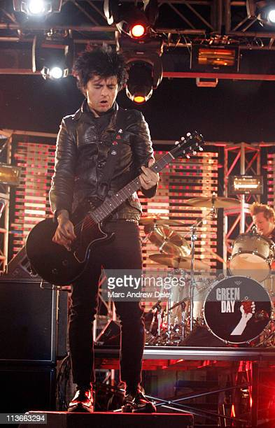 Billie Joe Armstrong of Green Day during 2005 NFL Kickoff Foxboro Concert at Gillette Stadium in Foxboro Massachusetts United States