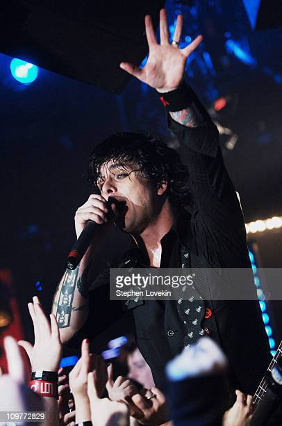 Billie Joe Armstrong of Green Day during Green Day Performs at FUSE Studios November 12 2005 at FUSE Studios in New York City New York United States